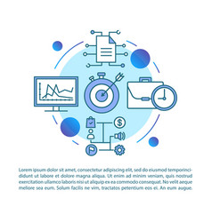Data assessment blue background article page vector