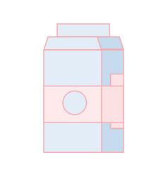 delicious milk box with nutrients ingredients vector image
