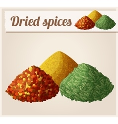 Dried spices Detailed Icon vector