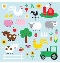 Farm clipart vector