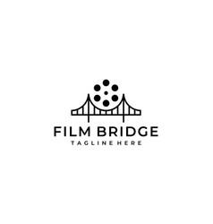 film bridge logo design template vector image