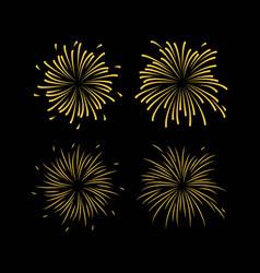 Fireworks template design vector