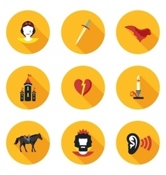 Flat icons Othello vector