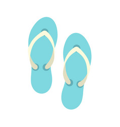 flip flop sandals icon flat style vector image