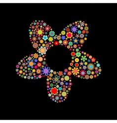 flower shape vector image