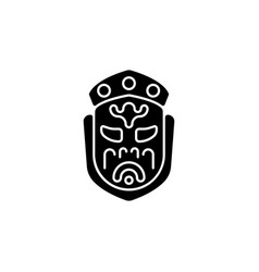 Ghost mask museum black glyph icon vector
