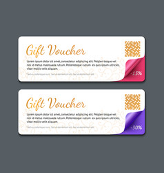 Gift voucher template realistic vector