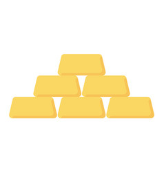 gold bar icon vector image