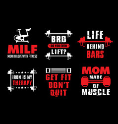 Gym quote and saying good for your t-shirt design vector