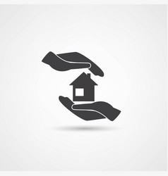 hand and house vector image