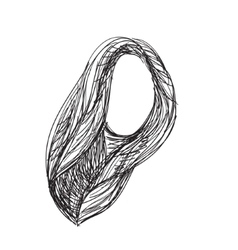 Hand drawn wig Hair sketch vector image