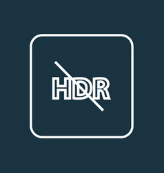 hdr off icon line symbol premium quality isolated vector image