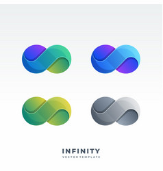 Infinity material design style logotype symbols vector