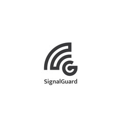 initial letter g logo signal wave wifi wireless vector image