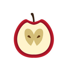 isolated cut apple icon vector image