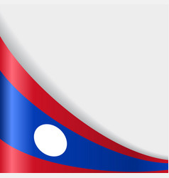 Laos flag background vector
