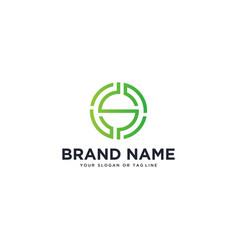 Logo design letter s vector
