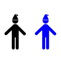 man with a cap on his head icon vector image