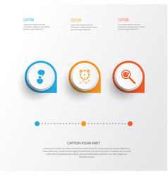 Management icons set collection of opinion vector