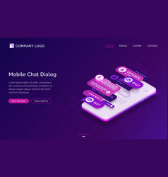 mobile chat dialog application interface vector image