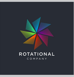 Modern abstract 360 degrees rotational logo icon vector
