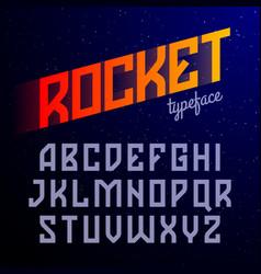 Modern style font vector