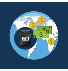 oil and petroleum industry global money vector image