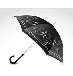 Ornamental black umbrella vector image