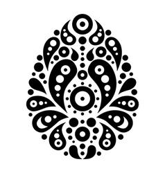 Ornamental floral decorative easter egg vector image