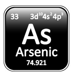 Periodic table element arsenic icon vector