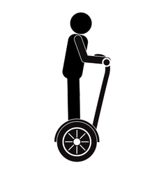 Person on segway icon vector