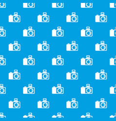 Photocamera pattern seamless blue vector