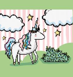 Pixel art fantasy cartoon vector