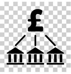 Pound bank association icon vector