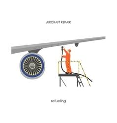 Repair and maintenance aircraft vector
