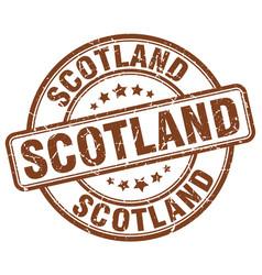 scotland brown grunge round vintage rubber stamp vector image