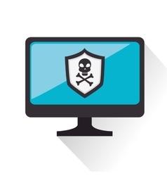 Security alarm symbol icon vector