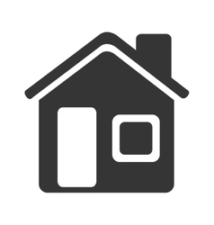 Silhouette house home isolated vector