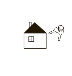 Simple house and keys vector