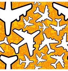 Social media travel business pattern vector image