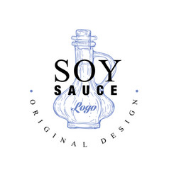 Soy sauce logo original design badge can be used vector