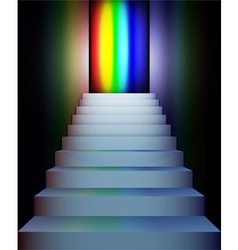 stairs to rainbow vector image