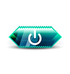 start power button ui icon design on off symbol vector image