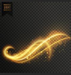 Stylish swirl light effect background vector