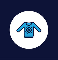 sweater icon sign symbol vector image