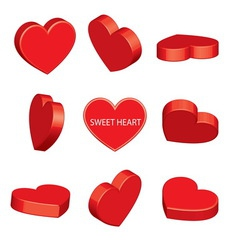 Sweet heart perspective vector