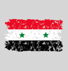 syria flag grunge texture isolated vector image