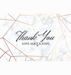 thank you geometric design card template vector image