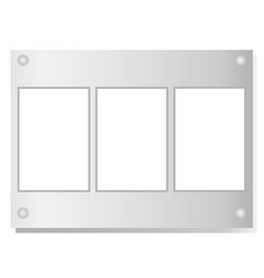 Three white paper sheet notes for text vector