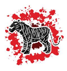 tiger cartoon logo graphic vector image